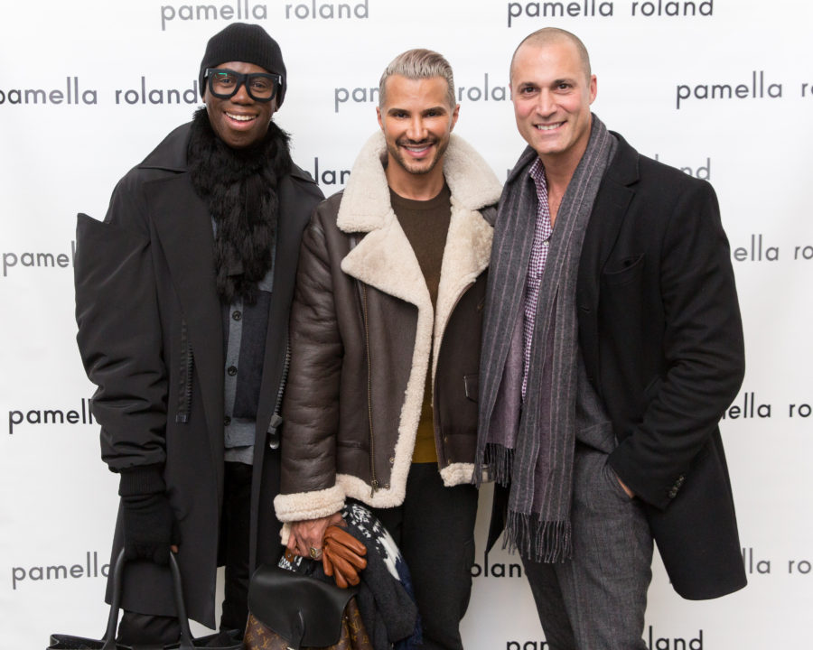 ANTM's Jay Alexander, Jay Manuel and Nigel Barker at Pamella Roland Fall 2017