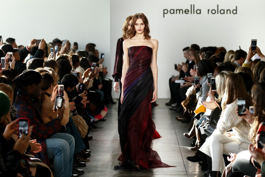 A Purple Parade at Pamella Roland