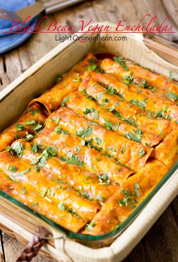 Vegan Black Bean Enchilada Recipe