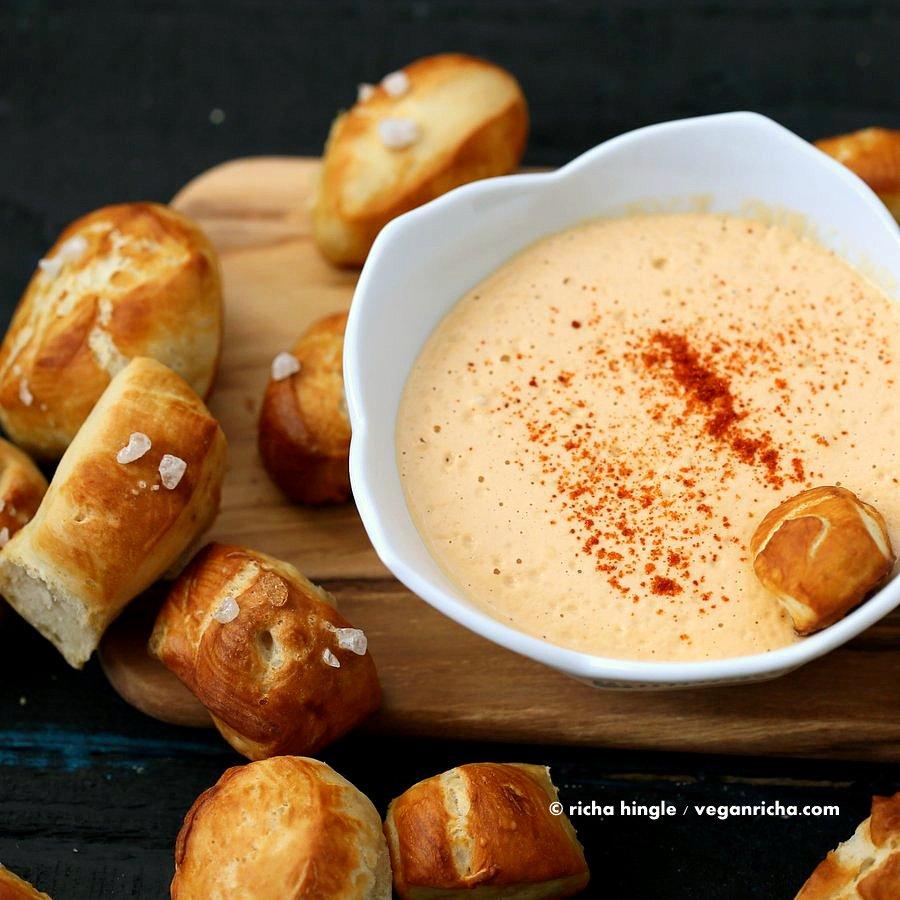 Vegan Pretzel and Spicy Mustard