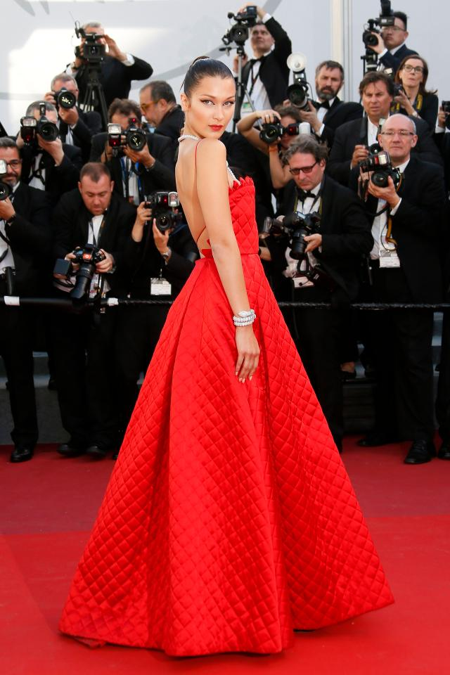 20 Best Cannes 2017 Red Carpet Looks - Bella Hadid in Dior Couture