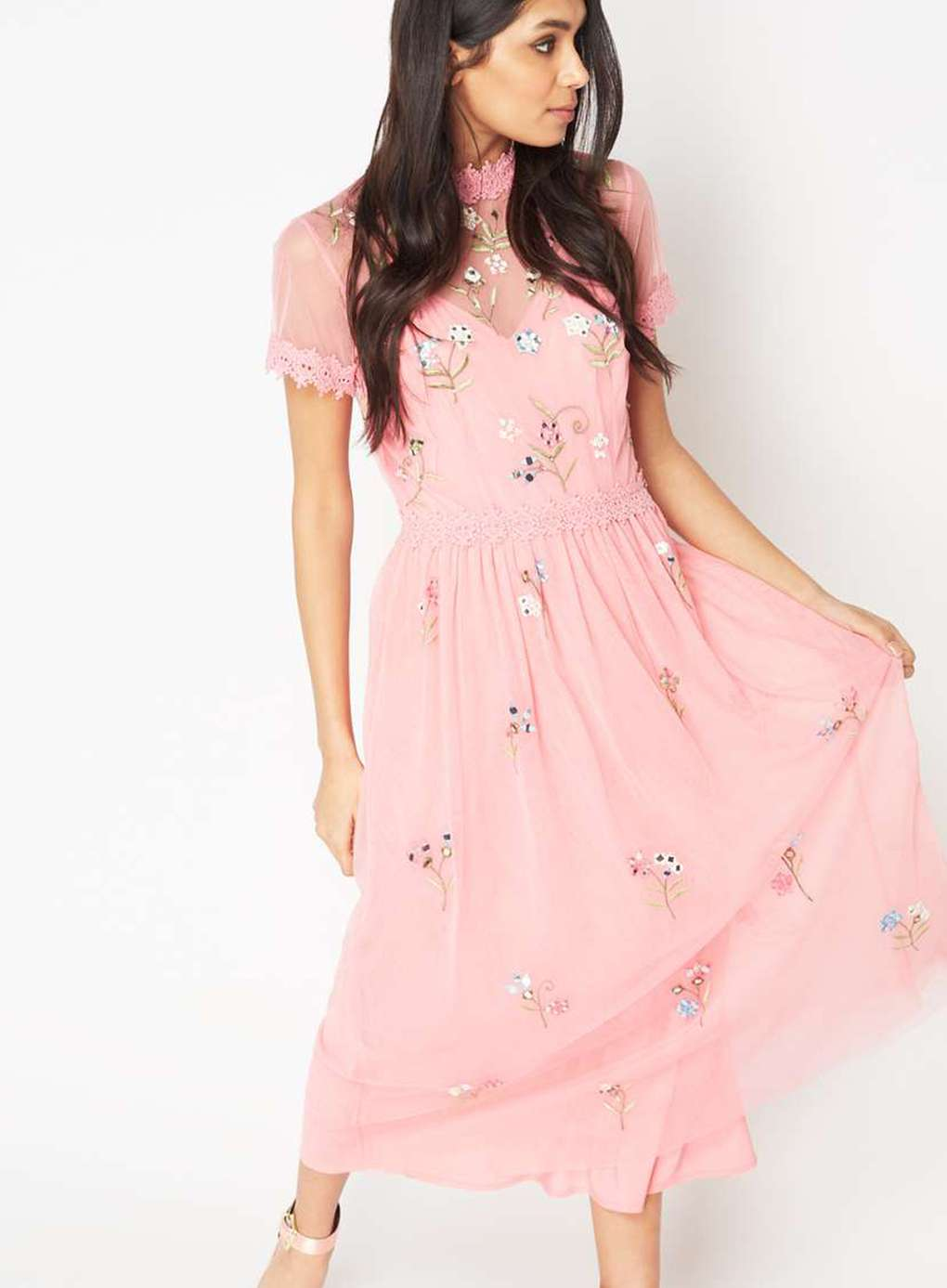 The Beguiled Style I Miss Selfridge Pink Embroidered Dress