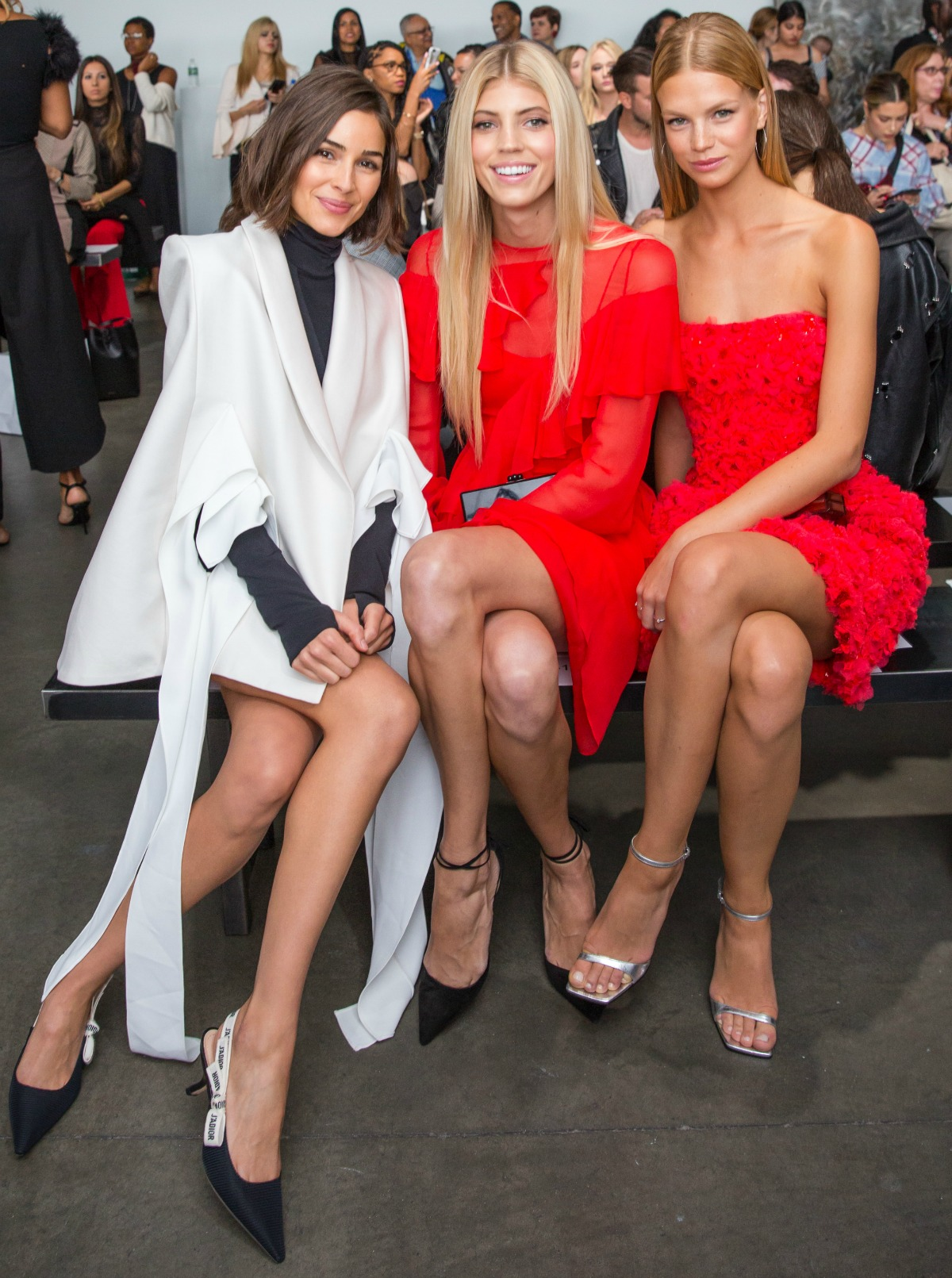 Pamella Roland Spring 2018 Front Row - Olivia Culpo, Nadine Leopold and Devon Windsor #NYFW