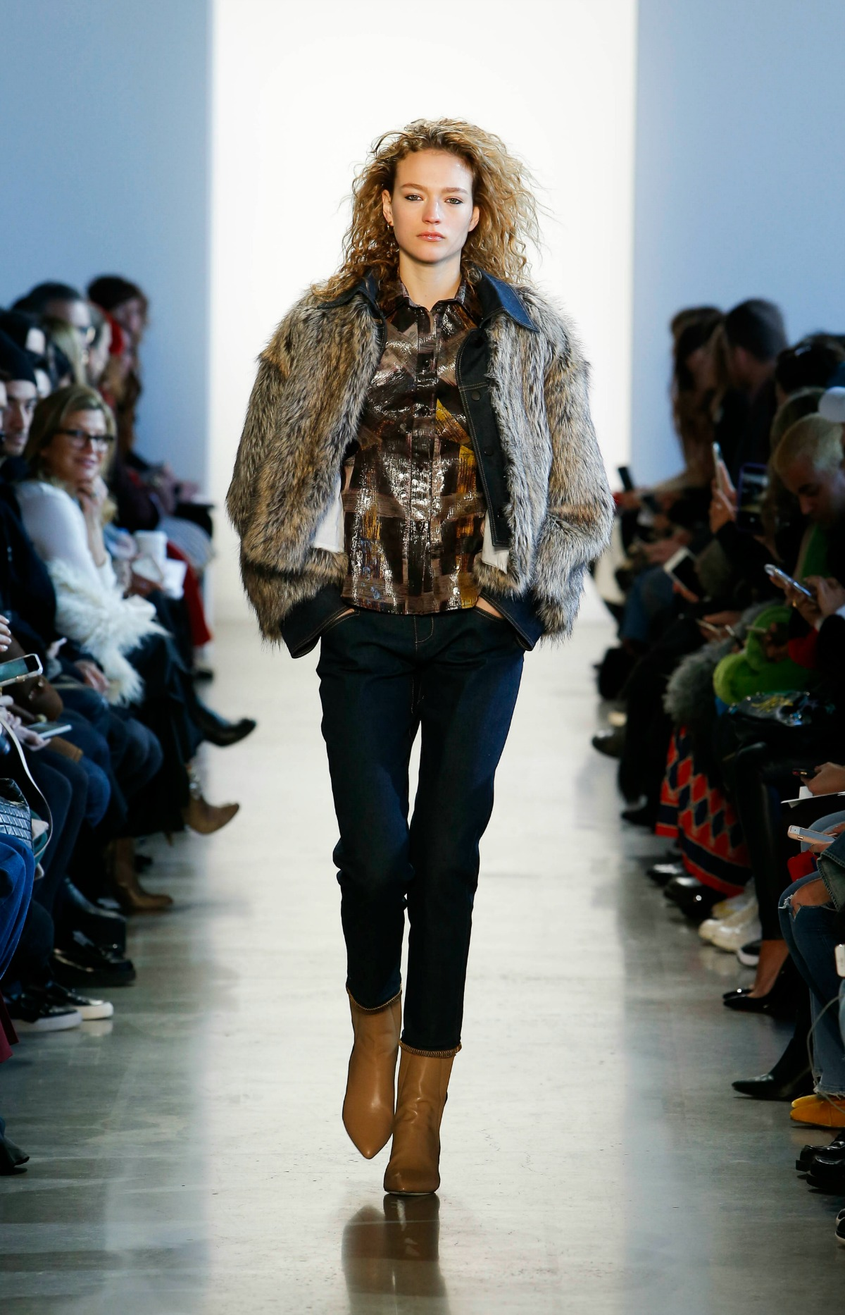 COLOVOS Fall 2018 Runway at NYFW I Faux Fur Bomber Jacket #NYFW #WinterFashion