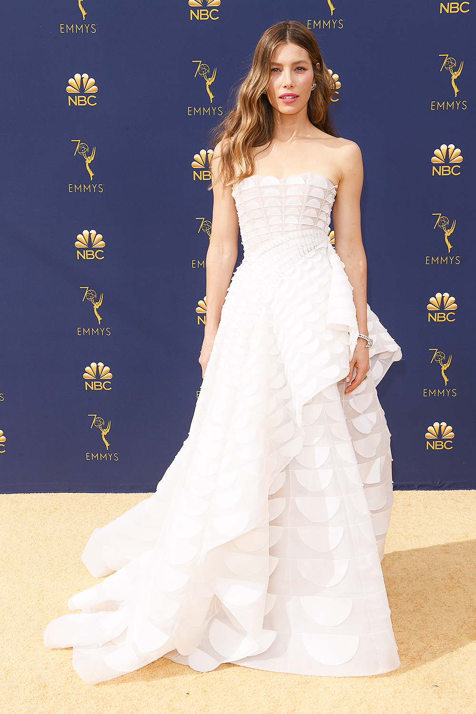2018 Emmys Best Dressed I Jessica Biel in Ralph & Russo #RalphandRusso #Emmys #BestDressed #JessicaBiel #TheSinner
