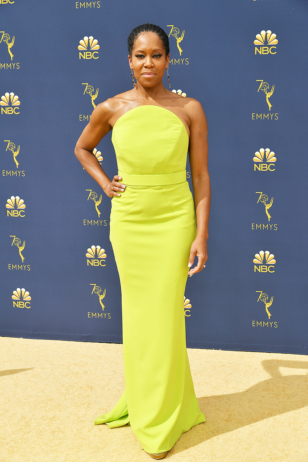 2018 Best Dressed Emmys I Regina King in Christian Siriano #BestDressed #Emmys #RedCarpet #Fashionista