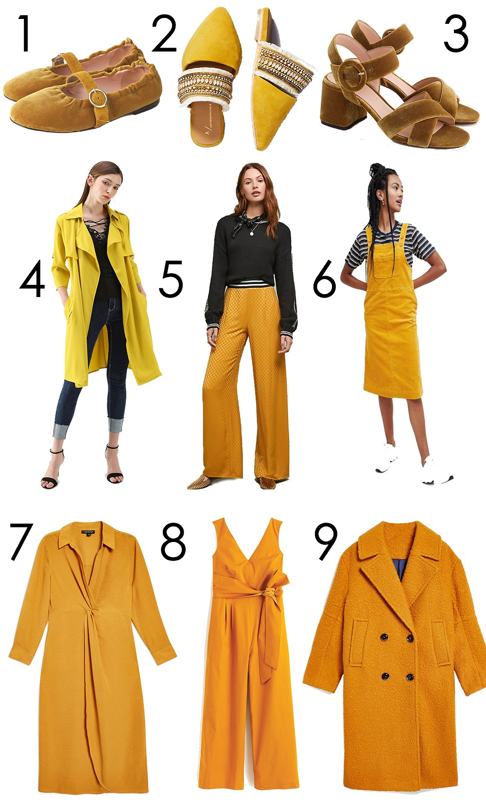 Yellow Fall Fashion Trend Picks for Your Wardrobe I DreaminLace.com #FallFashion #FallTrends #Style