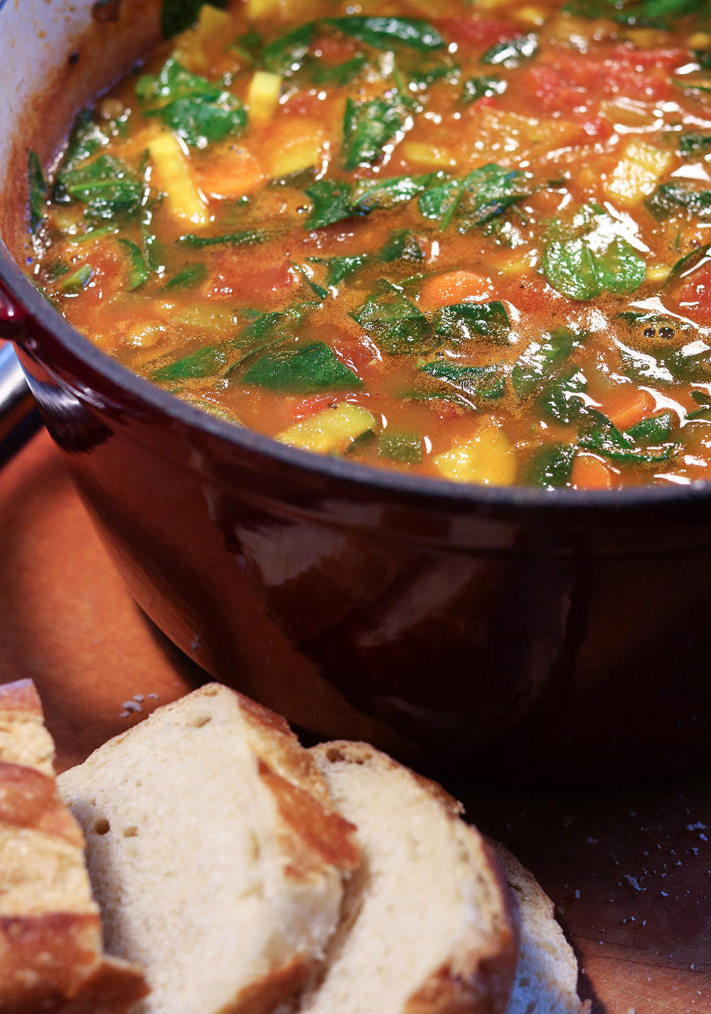Spiced Vegetable Lentil Soup Recipe #VeganRecipe #Soup #Comfortfood