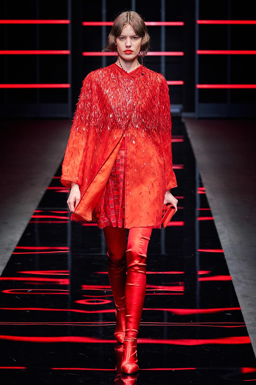 Best Milan Fashion Week Looks I Emporio Armani Fall 2019 Runway #FashionWeek #HighFashion #MFW
