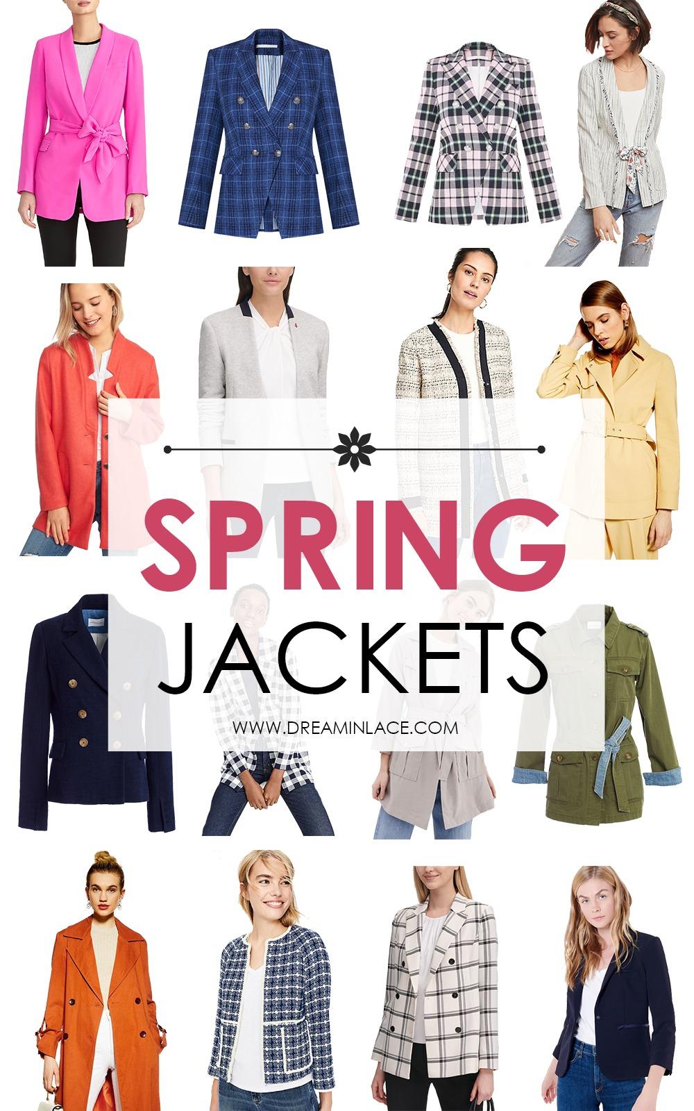 Stylish Spring Jackets on My Radar I DreaminLace.com #SpringFashion #WorkWear #Fashionista #OutfitIdeas