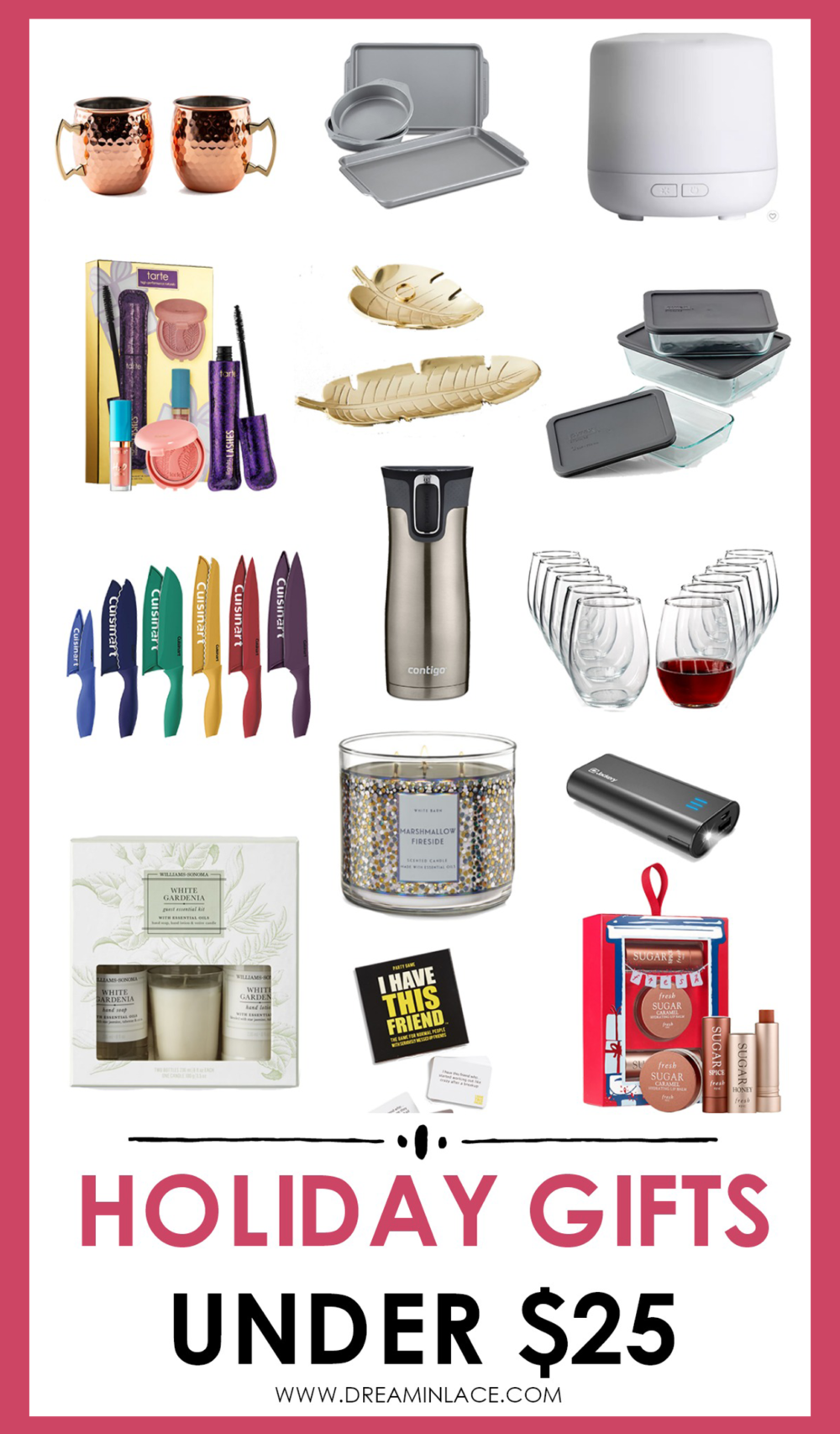 Holiday Gifts Under $25 I DreaminLace.com #GiftIdeas #GiftGuide #Blogmas