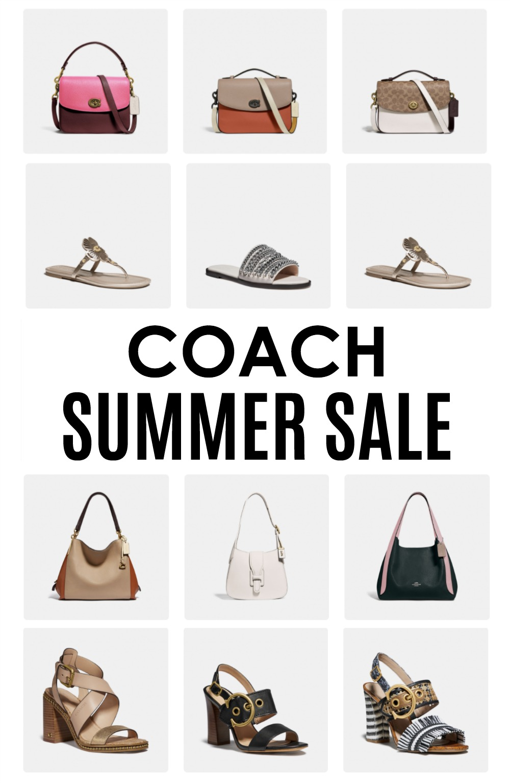 Coach Summer Sale 2020 I 50% off handbags, shoes and apparel! #fashionblog #summerstyle #Shopping
