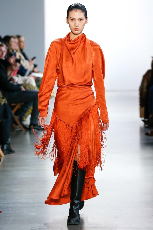 Jonathan Simkhai Fringed Paisley Dress #NYFW #FallFashion #Womenswear