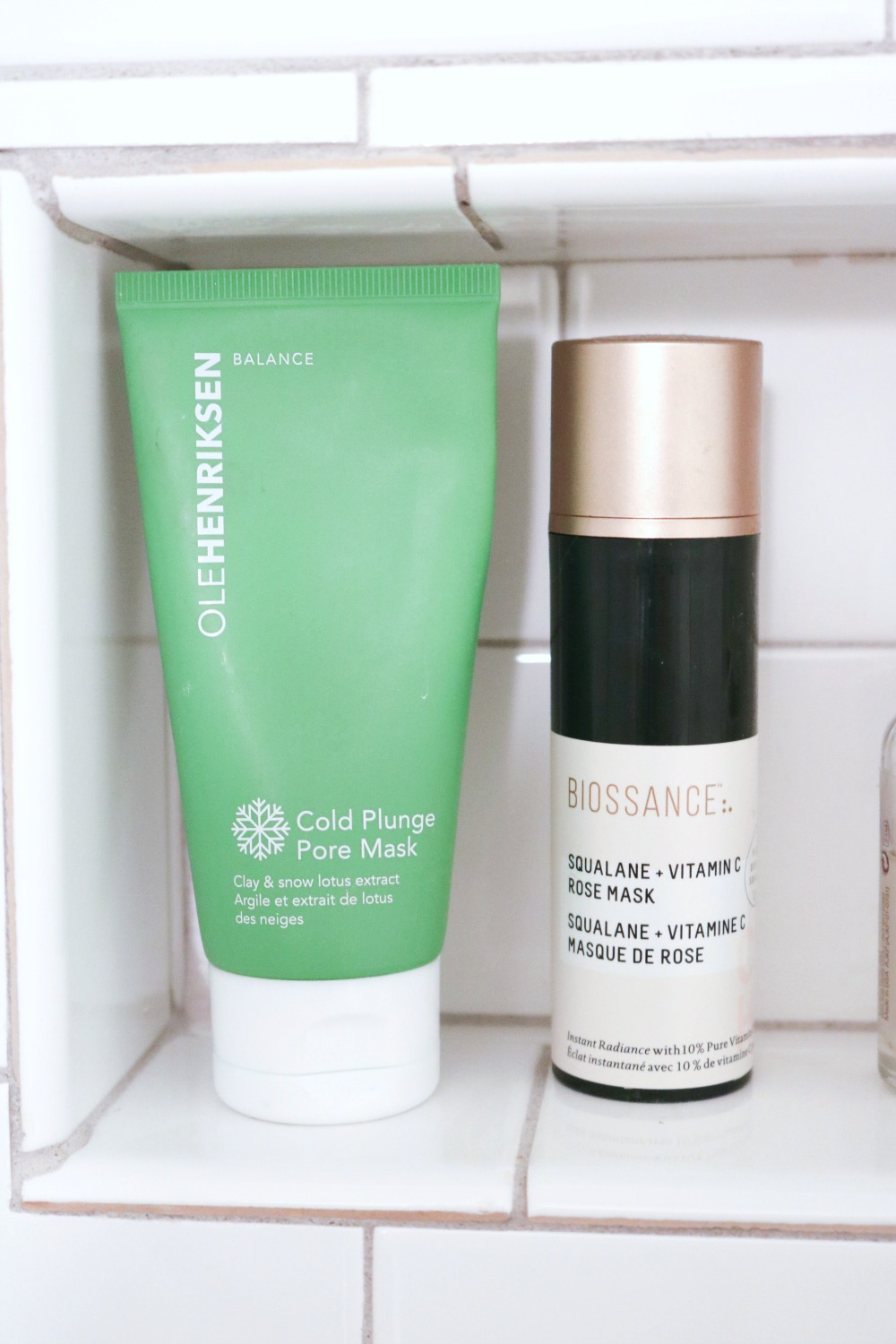 Favorite Self-Care Products I Ole Henriksen Cold Plunge Mask and Biossance Squalane + Vitamin C Mask #Skincare #BeautyTips