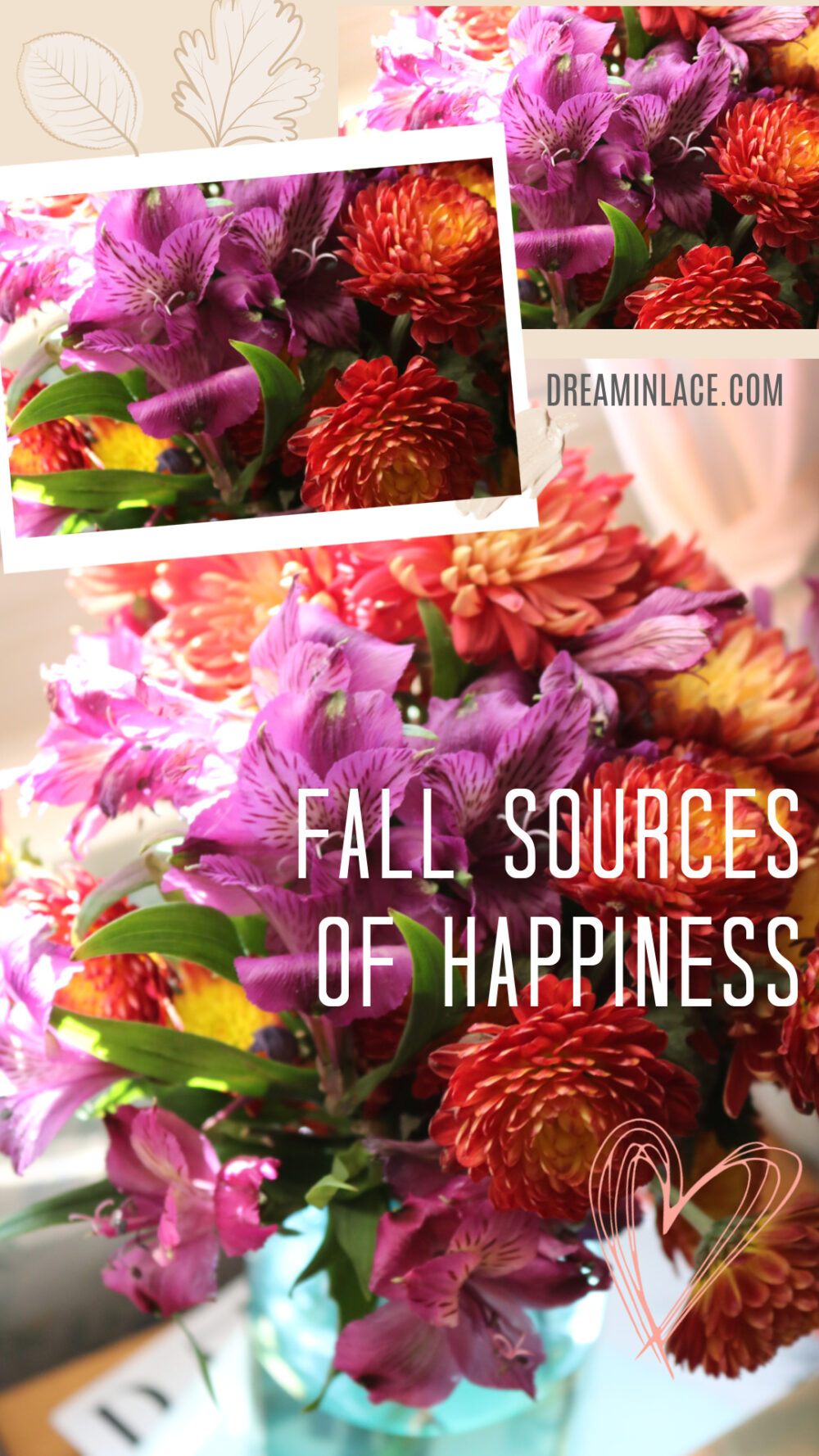 5 Things Bringing Me Happiness in November 2020 I DreaminLace #flowers #fallvibes