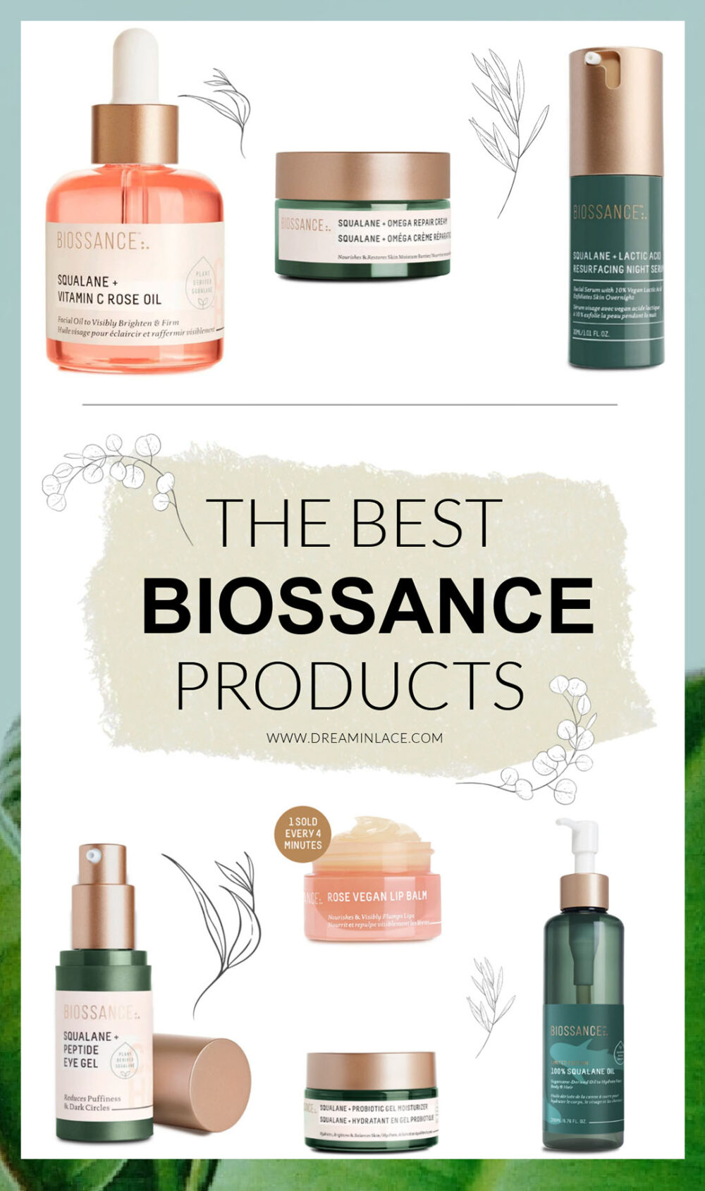 The Best Biossance Products I Clean Beauty and Skincare at Dreaminlace.com #CleanBeauty #cleanskincare #ecofriendly #beautyblog