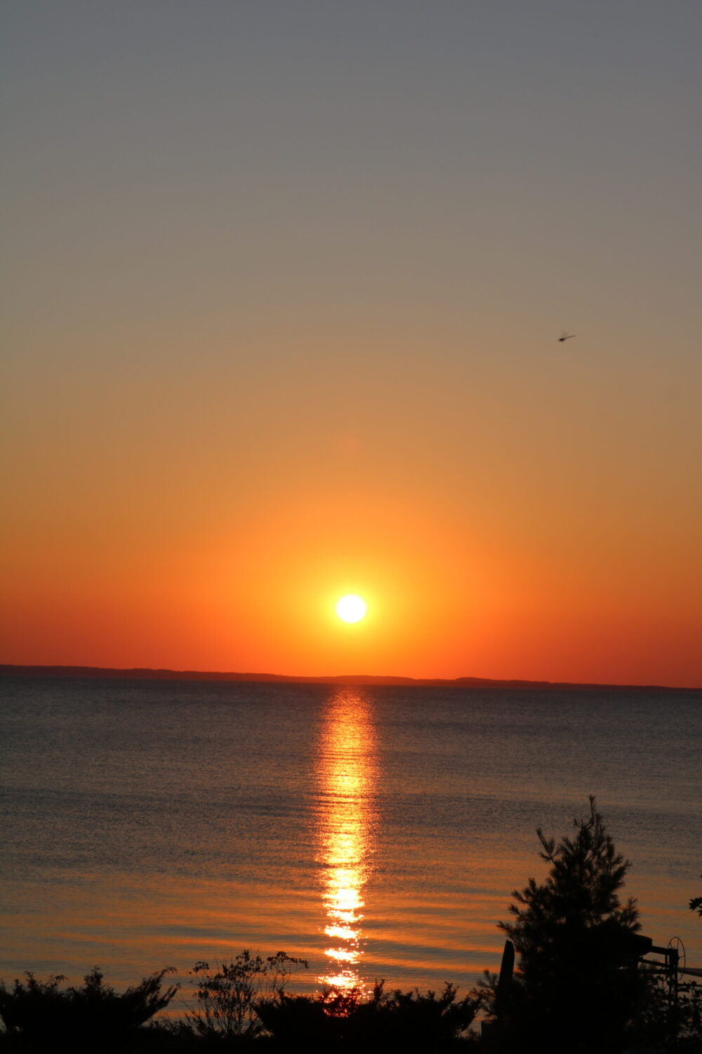 2020 Year in Review I Sunset over Grand Traverse Bay in Northern Michigan