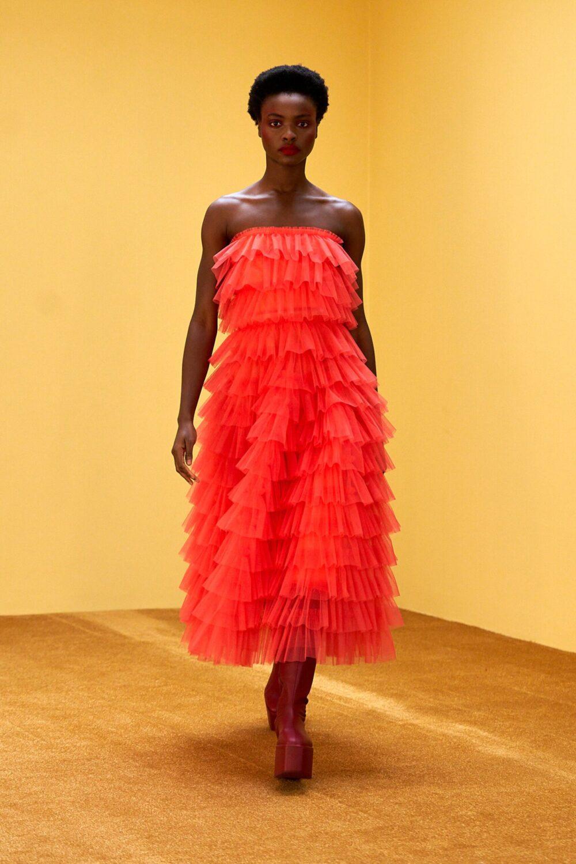 Best LFW Looks I Molly Goddard Fall 2021 #fashionblog #fashionable #womensfashion