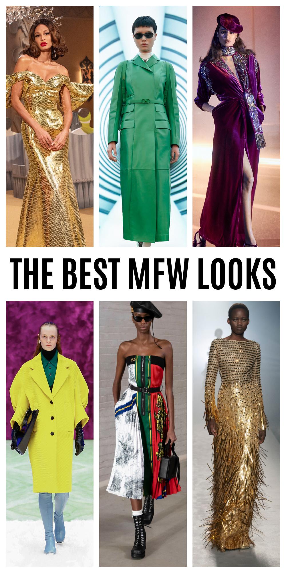 The Best MFW Looks of the Fall 2021 Season I Dreaminlace.com #fashionblog #fallfashion #runway #outfitinspo #fashionstyle