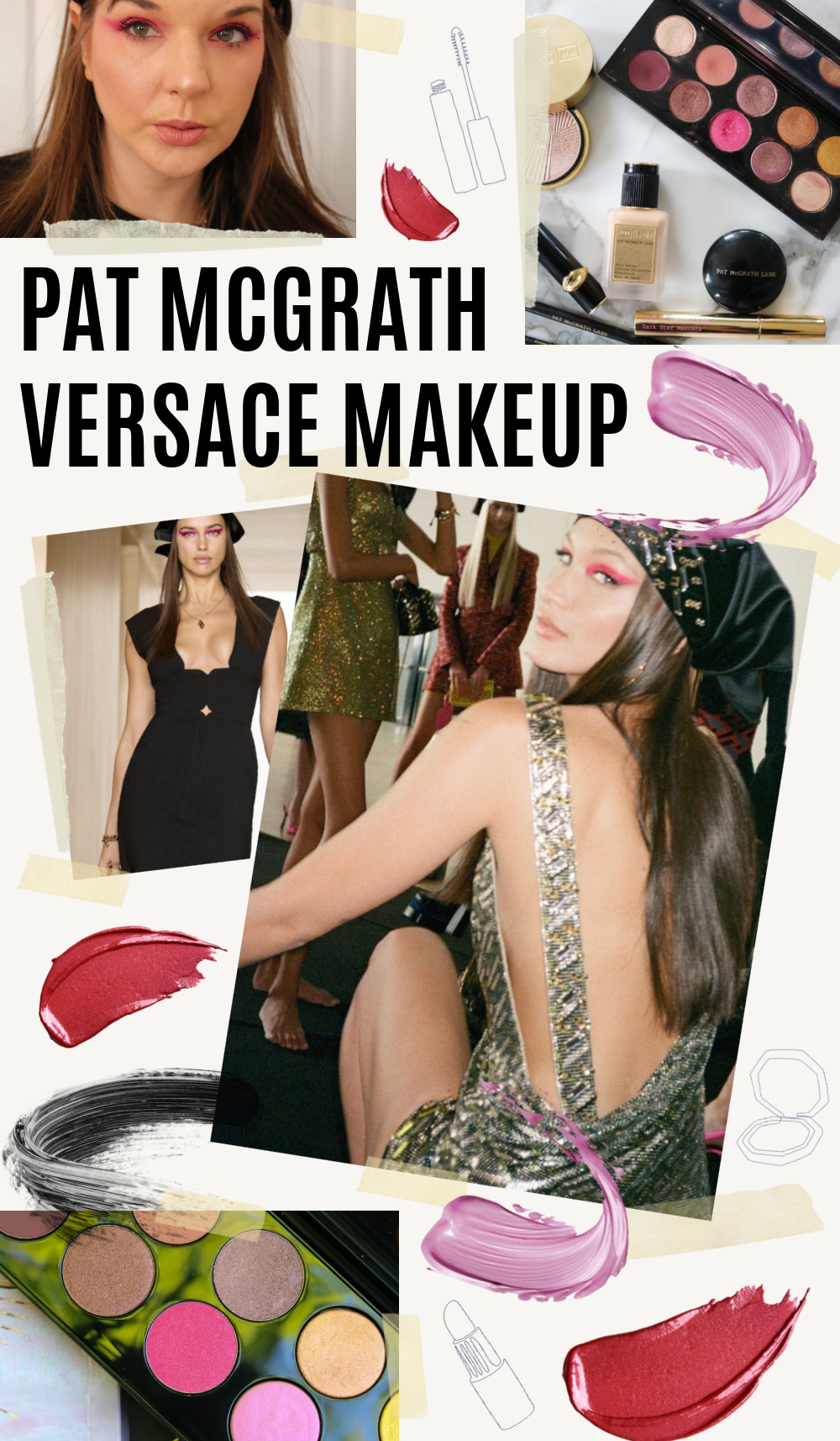 Pat McGrath Versace Makeup Look on Bella Hadid I DreaminLace.com #makeuplooks #versace #bellahadid #beautyblog #beautyblogger #fashionstyle