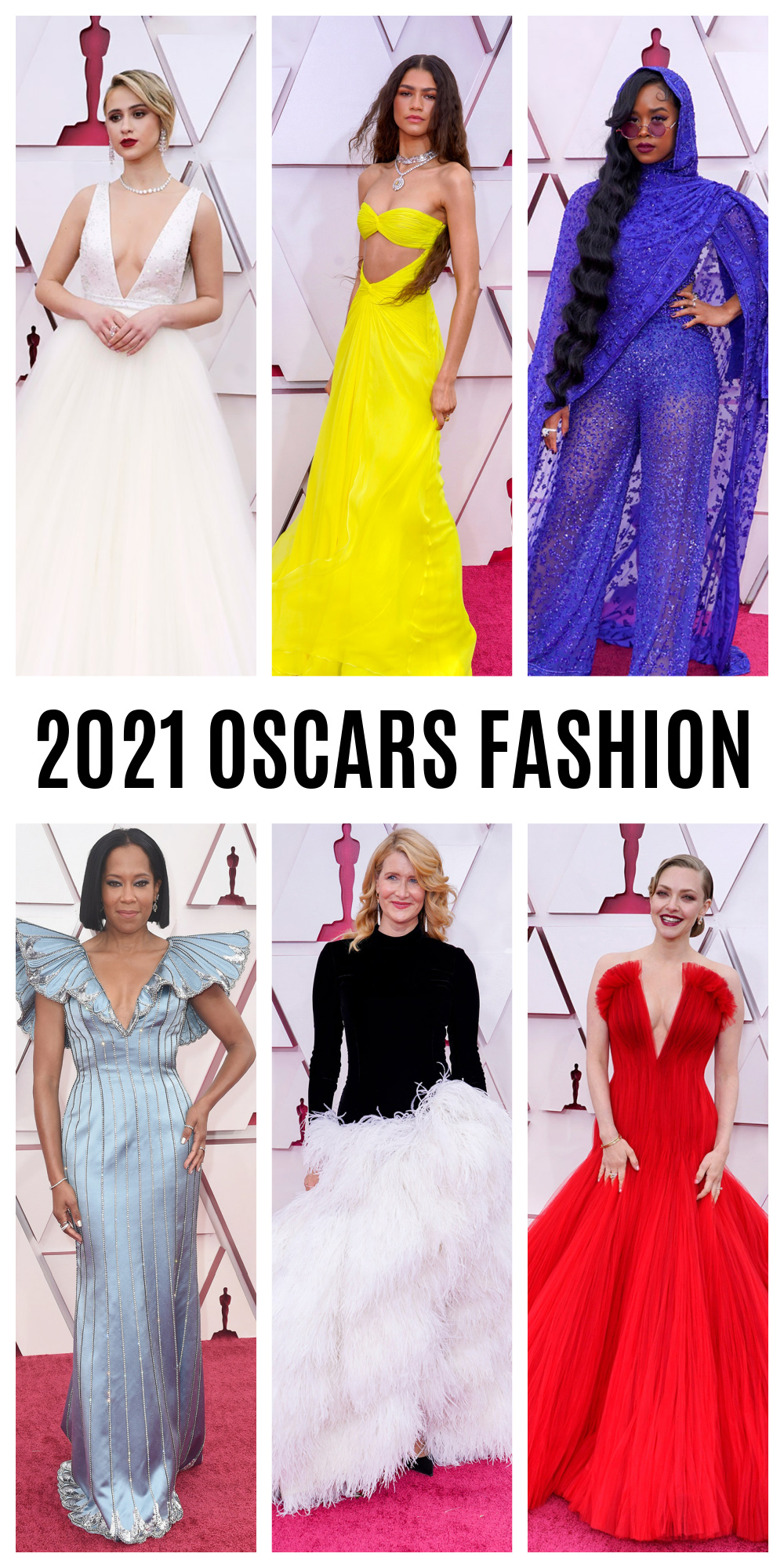 2021 Oscars Fashion Moments I DreamInLace.com #fashionstyle #stylish