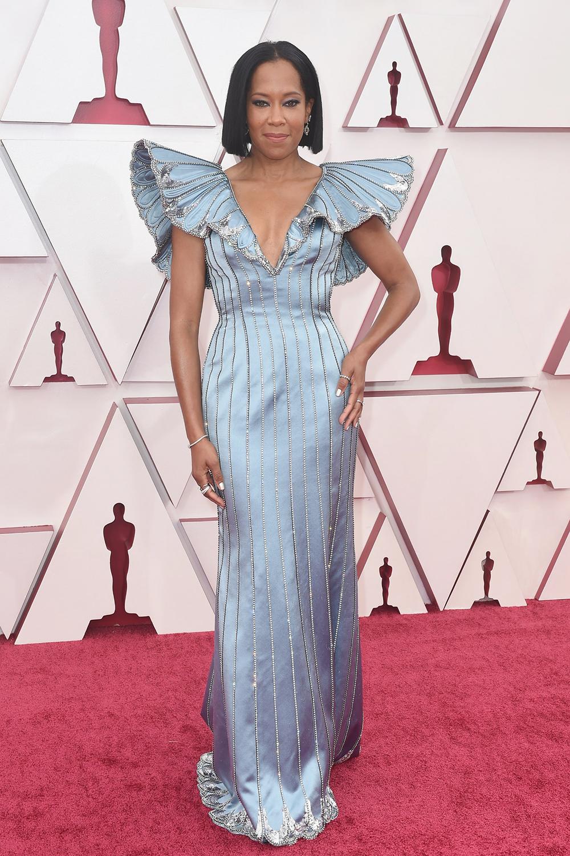2021 Oscars Fashion I Regina King in custom Louis Vuitton #fashionstyle #stylish