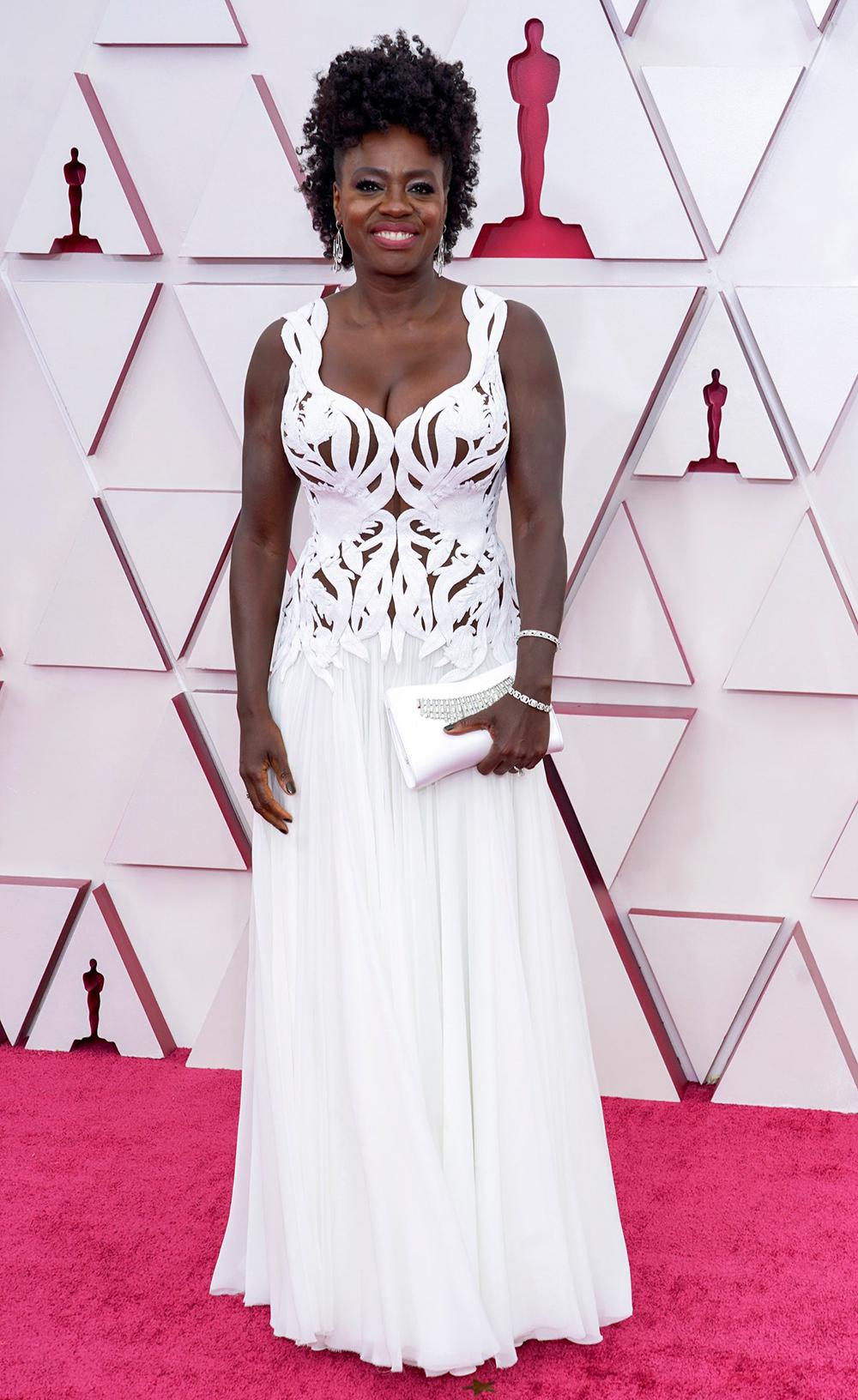 2021 Oscars Fashion I Viola Davis in custom Alexander McQueen #fashionstyle #stylish