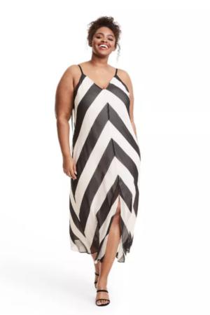 Christopher John Rogers Target Collection I Stripe Chevron Slip Dress