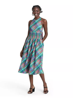 Christopher John Rogers Target Collection I Plaid Halter Dress