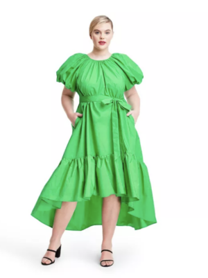 Christopher John Rogers x Target Collection I Green Ruffled High-Low Dress