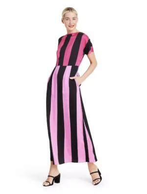 Christopher John Rogers Target Collection I Mixed Stripe Short-Sleeve Dress
