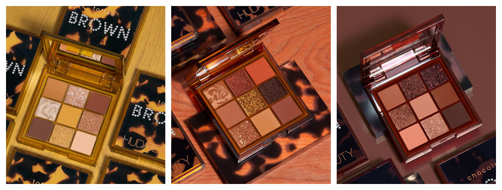 May 2021 Makeup Releases I Huda Beauty Brown Obsessions Eyeshadow Palette Trio #Makeupaddict