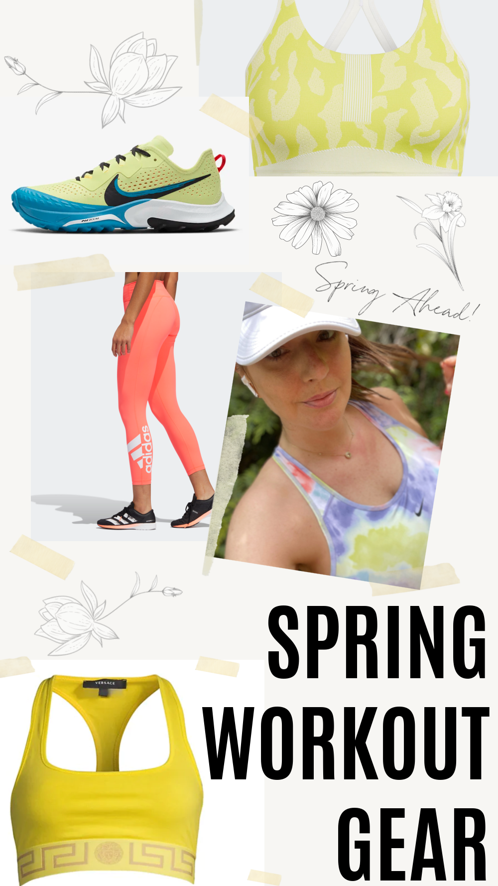 Spring Workout Clothes 2021 I Nike, Stella McCartney for Adidas, Versace and more #fashionstyle #stylish #workout #ootdstyle