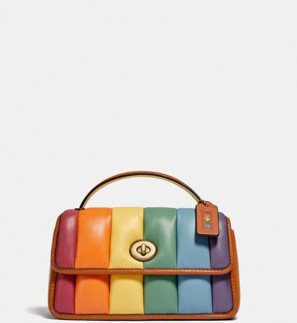COACH Pride Collection Quited Rainbow Handbag