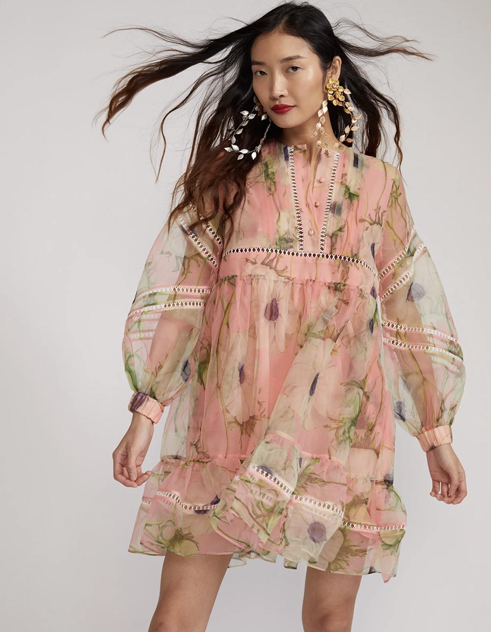 Cynthia Rowley Summer 2021 Styles I Poppy Organza Dress #summerstyle