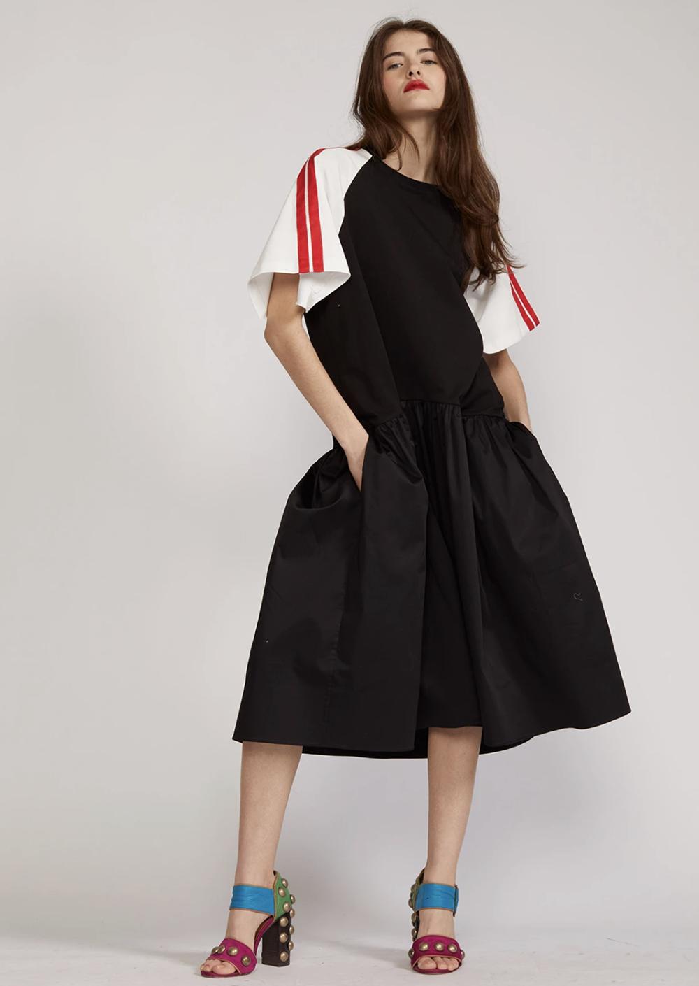 Cynthia Rowley Summer 2021 Styles I Striped Tee Shirt Dress #summerstyle