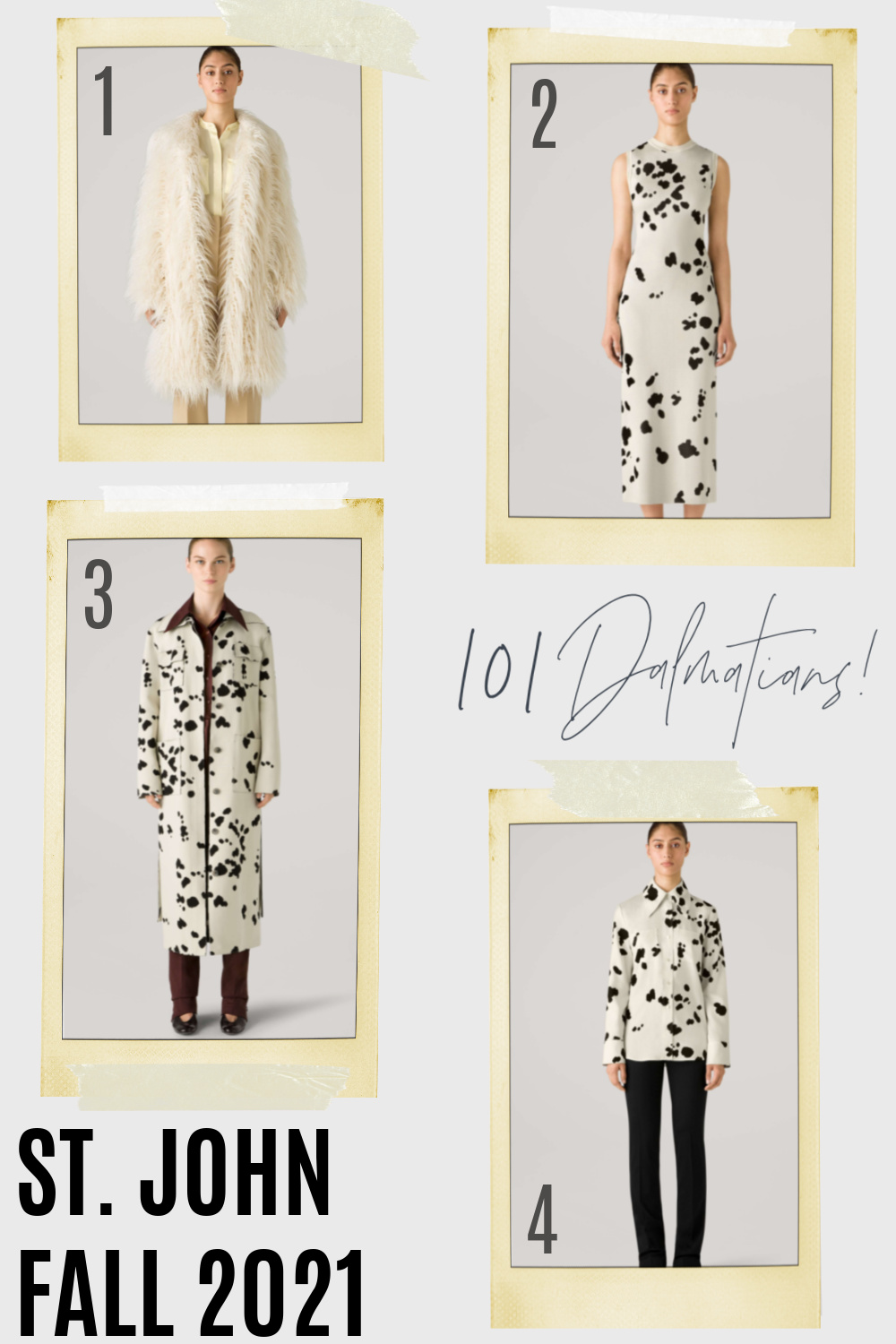 St John Fall 2021 Collection I Dalmatian Print #fashionstyle #fallstyle #ootdstyle