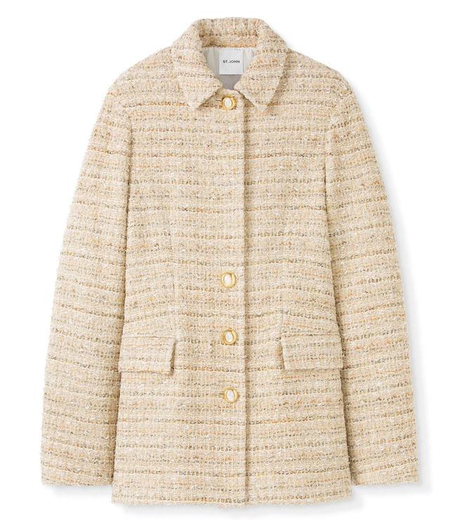 St John Fall 2021 Space-Dye Tweed Jacket #fashionstyle #ootdinspo