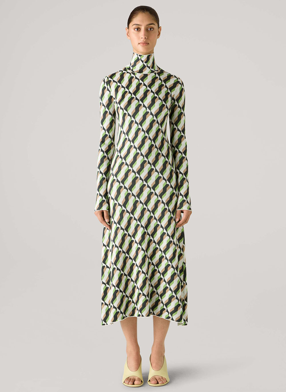 St John Fall 2021 Geometric Print Dress I DreaminLace.com