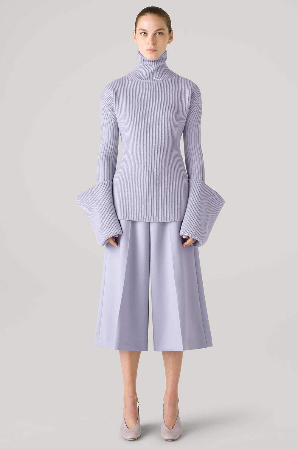 St John Fall 2021 Collection I Lilac Turtleneck and Culotte #ootdstyle