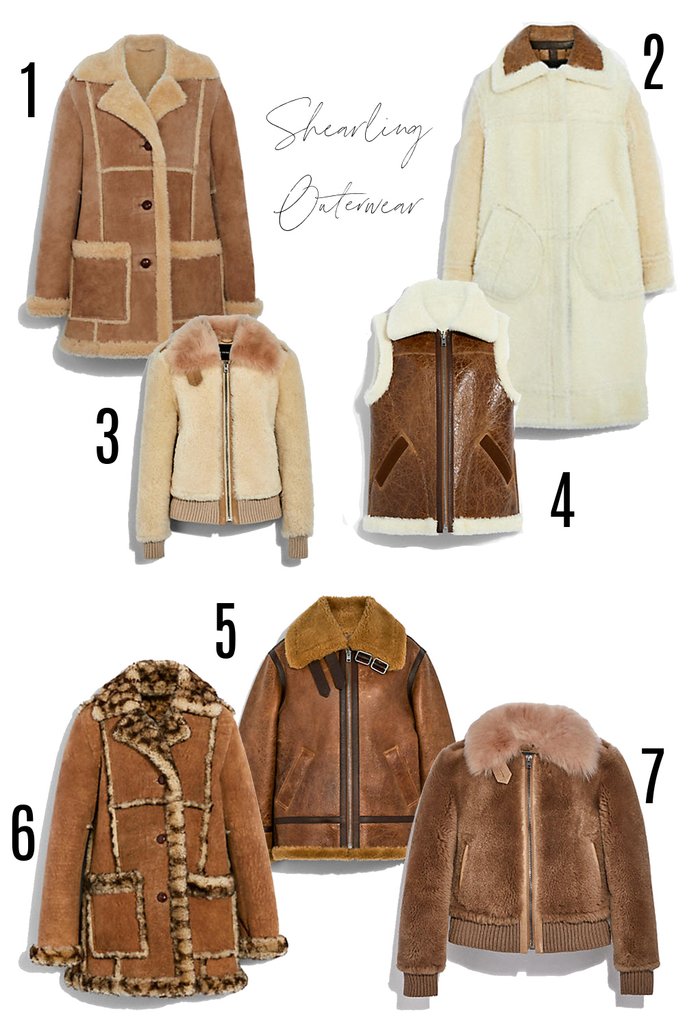COACH Fall 2021 Collection I Shearling Coats and Outerwear #fashionstyle #ootdinspo