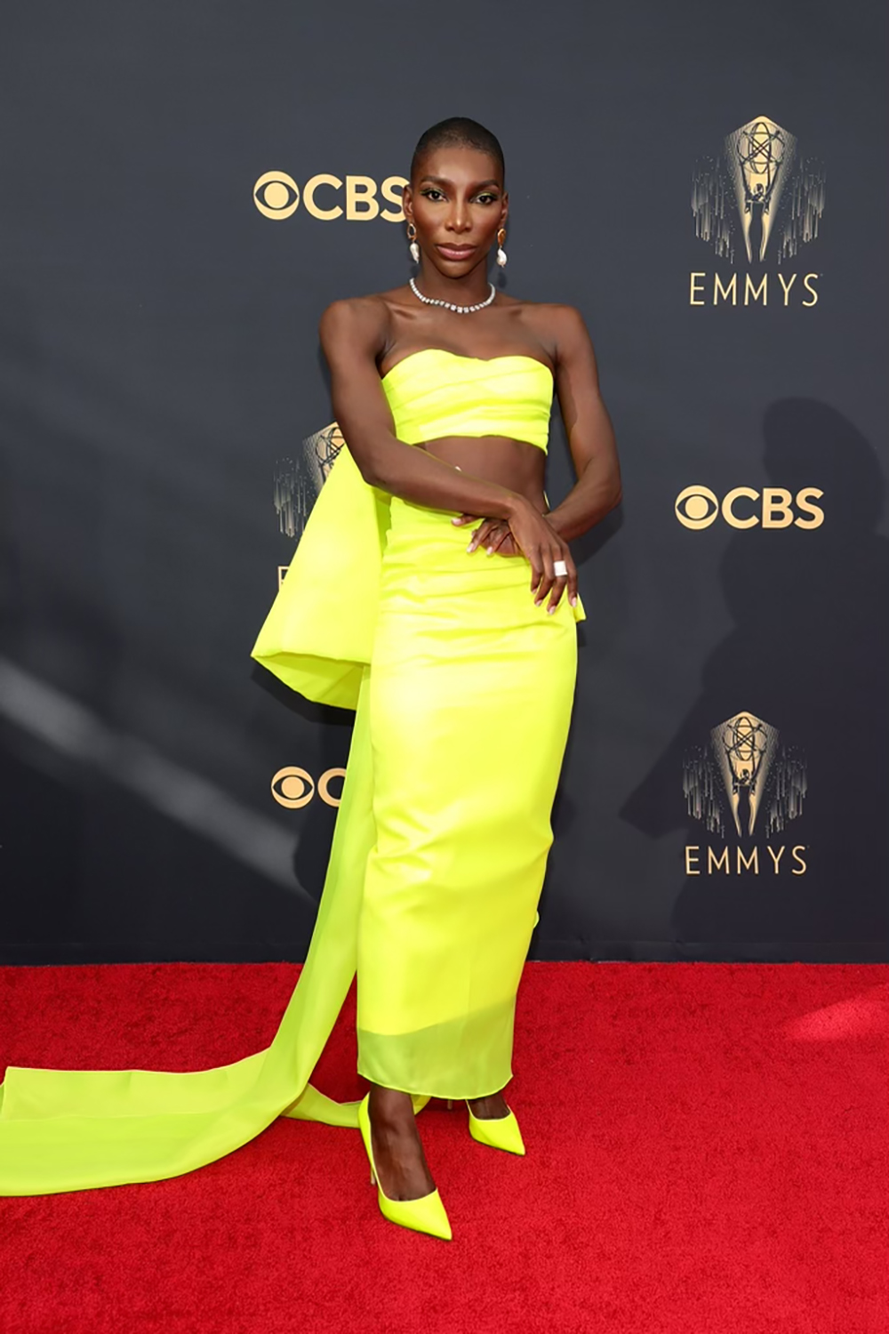 Best 2021 Emmys Fashion Moments I Michaela Coel in Christopher John Rogers #fashionstyle