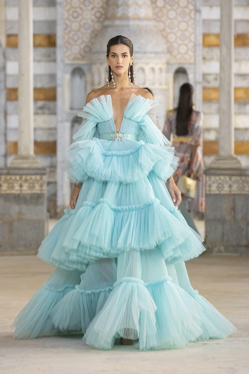 Lush tulle ballgown from Georges Hobeika SS22 ready-to-wear collection I DreaminLace.com #fashionstyle